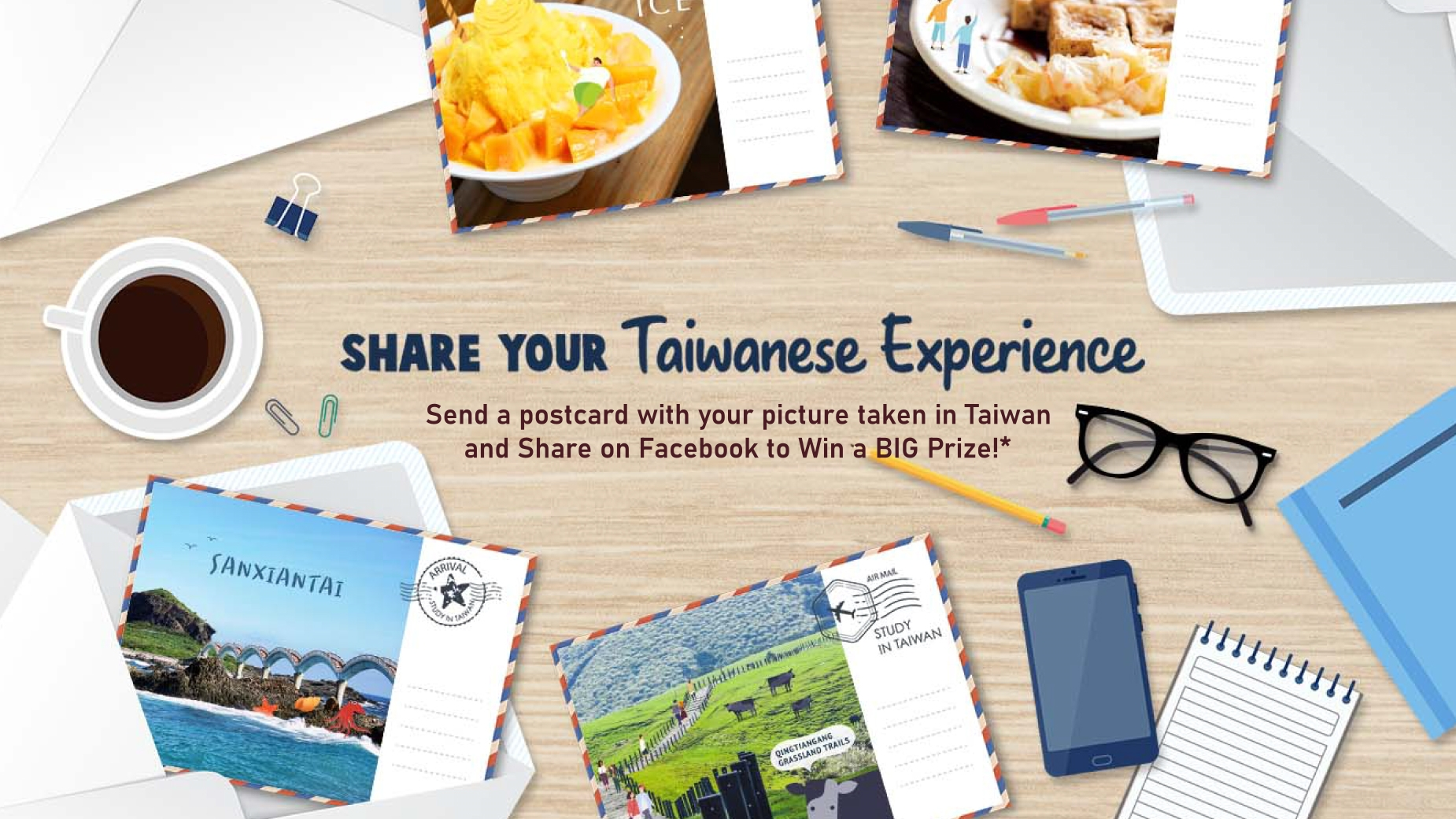 Share your Taiwanese Experience and Win Big Prize